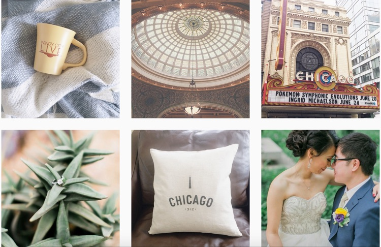 Instagram of Chicago Wedding Photographer Artistrie Co.