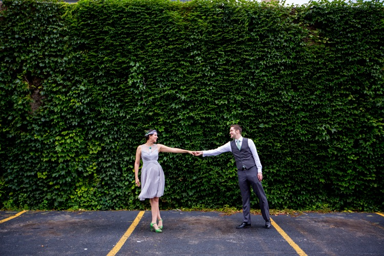 Chicago Engagement Photos - Lawrence Red Line Stop