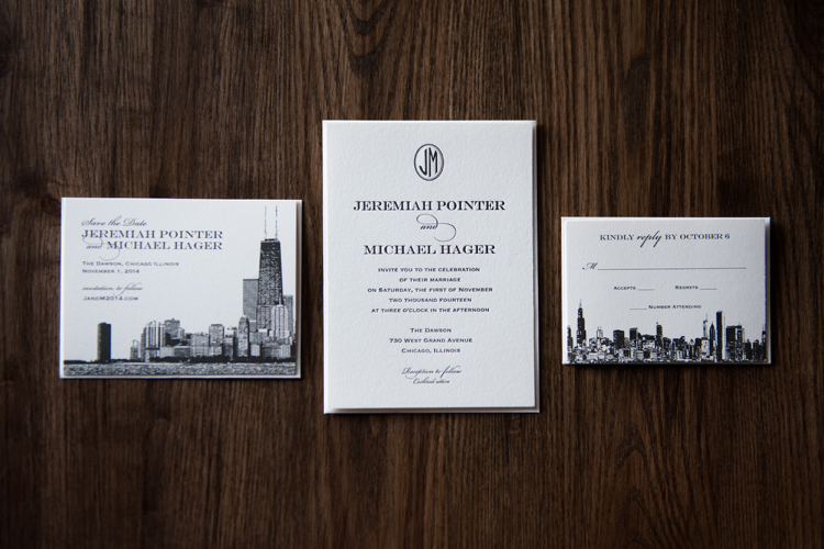 wedding invitations chicago - married in chicago,